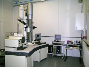 nalytical TEM, Hitachi 8100 with ThermoNoran light elements EDS detector and digital image acquisition.