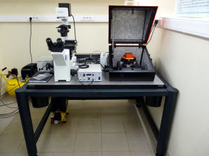 Atomic force microscope.